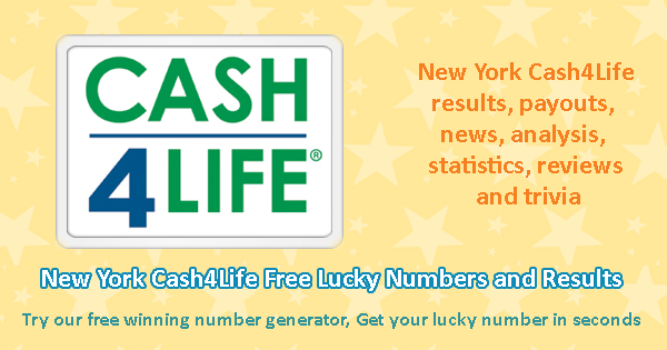 New York Cash4Life Free Lucky Numbers and Results